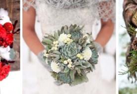 Зимний свадебный букет: настоящая экзотика в руках невесты