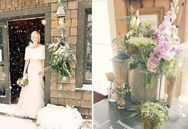 невеста в белом и меховой накидке