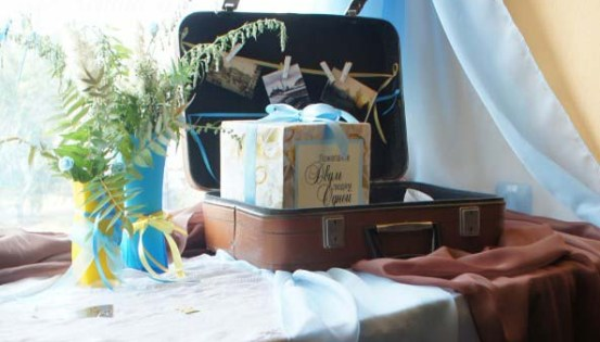 чемодан аксессуар свадьбы