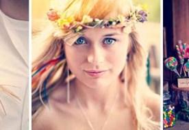 Свадьба в стиле радуга: яркий декор в семи оттенках