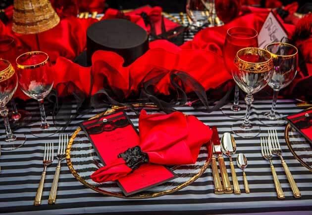 красно-черный цвет свадьбы Мулен Руж