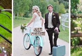 Велосипеды в свадебном декоре: романтика родом из детства