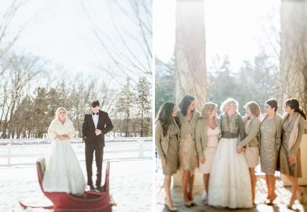 зимняя свадьба-образы