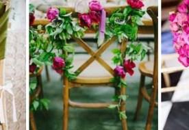 Свадебный декор стульев: как оформить стильно мебель?