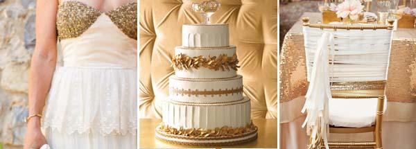 золотой и белый цвета свадьбы
