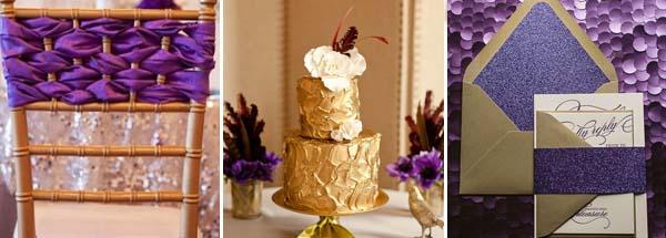 золотой и фиолетовый на свадьбе