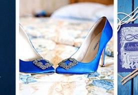 Свадебная палитра синий: декор в деталях