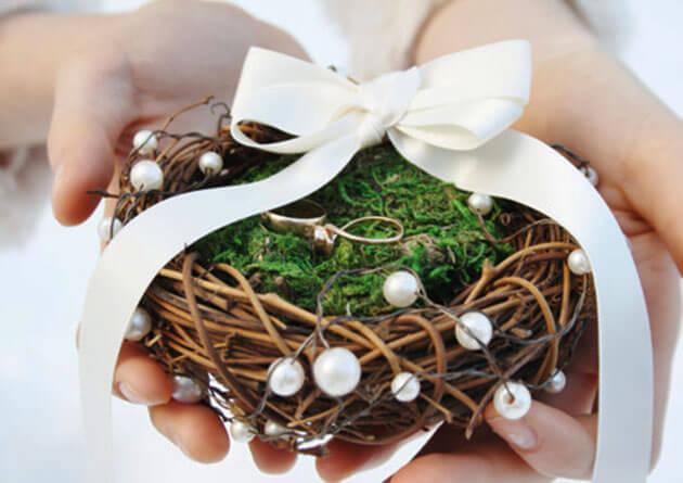 Как сделать подушку для колец на свадьбу