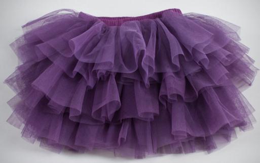 фиолетовая юбка из фатина