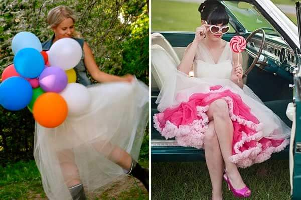 юбки из фатина розовая и белая