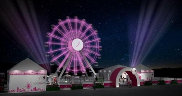 roda gigante rosa - giro pela vida