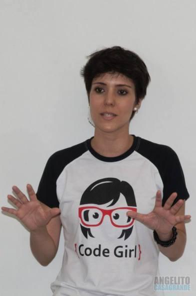 Bianca Brancaleone no Technovation Challenge, Sorocaba, SP, fevereiro de 2015