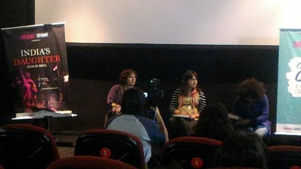 India's Daughter, debate após a sessão com a diretora, Karin Hueck e Viviana Santiago