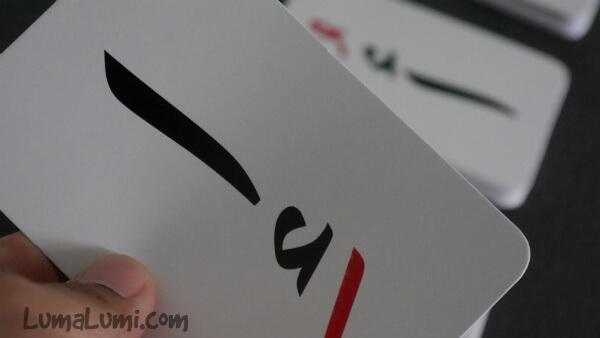 flash card huruf hijaiyah sudut lengkung