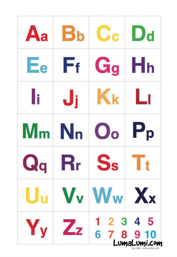 belajar huruf abjad latin anak
