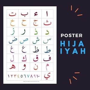 poster belajar huruf hijaiyah untuk anak-anak