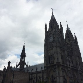The Basilica. You see the tower on the left? I climbed up it to get a great view of Quito!