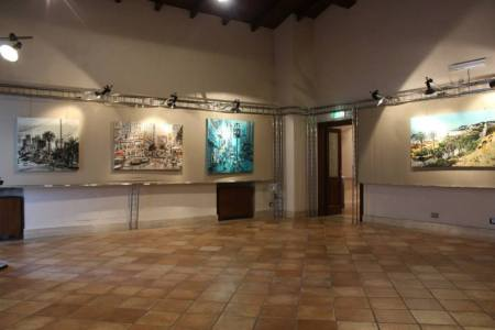 Part of the exhibit at Villa Comunale in Frosinone, Italy