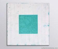 """Mystic Layers - Midori"" 36x36 in. acrylic on canvas"