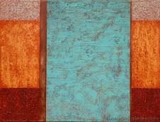 """""""Elemental"""" 36x48 in. acrylic on canvas"""