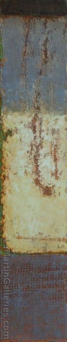 """""""Marks of Time"""" 60x12 in. acrylic on canvas"""