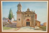 """Mexico"" (circa 1960) 14x21 inch watercolor by Arthur G. Rider. Unsigned, but authenticated on back"