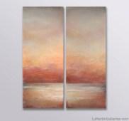 """Twilight Blush"" 60x48 inch (diptych) acrylic, sand, glass resin on canvas"