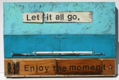 """Let It All Go"" 24x36 in. mixed media"