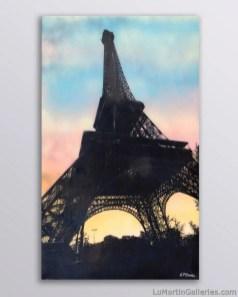 """Promenade en Soiree a Paris"" 60x36 inch acrylic and resin on panel"