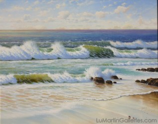 """Morning Surf"" 24x30 in. oil/canvas"