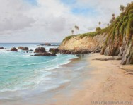 """Treasure Island, Laguna Beach"" 34x30 in. oil/canvas"