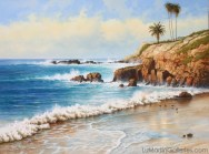 """Laguna Cove"" 36x48 in. oil/canvas"