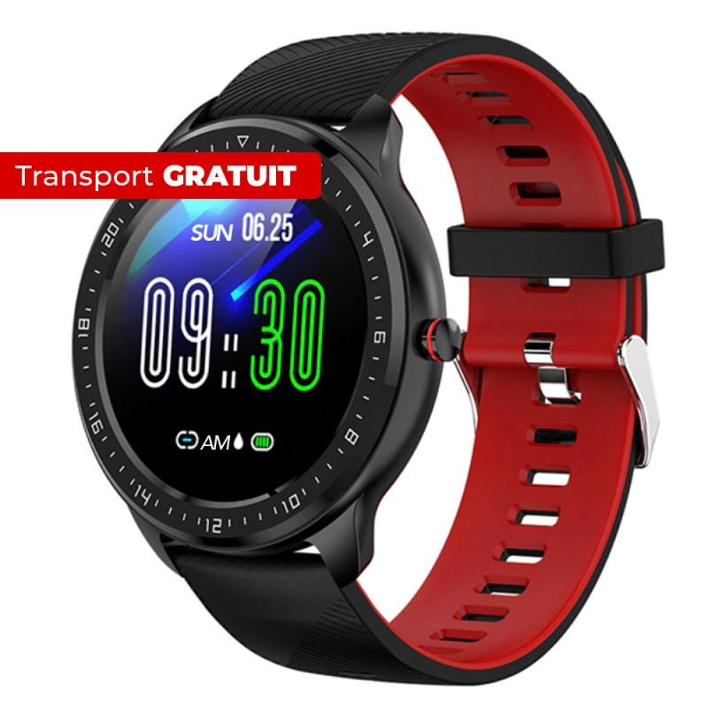 Smartwatch SmartWAY negru rosu