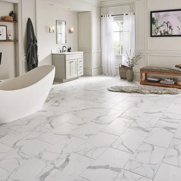 12 in x 24 in bianca carrara porcelain tile