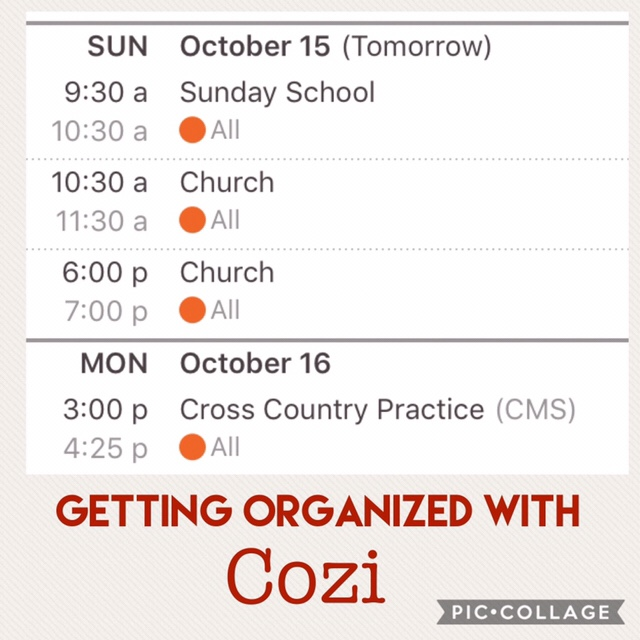 Simplify Saturdays: Using Cozi to organize your family schedule