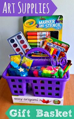 art supply basket
