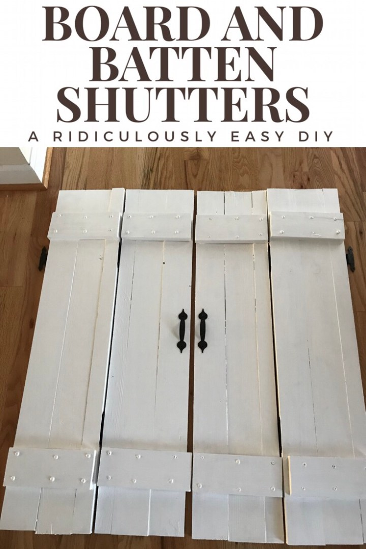 Board and Batten farmhouse shutters: a ridiculously easy DIY