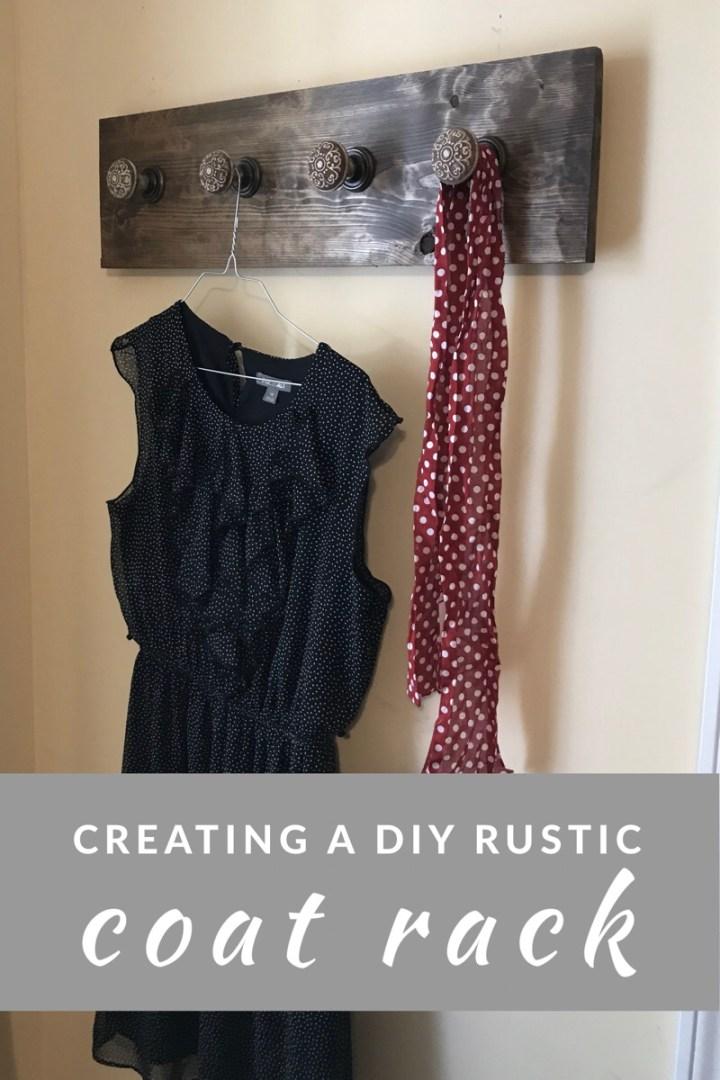 Creating a DIY Rustic CoatRack