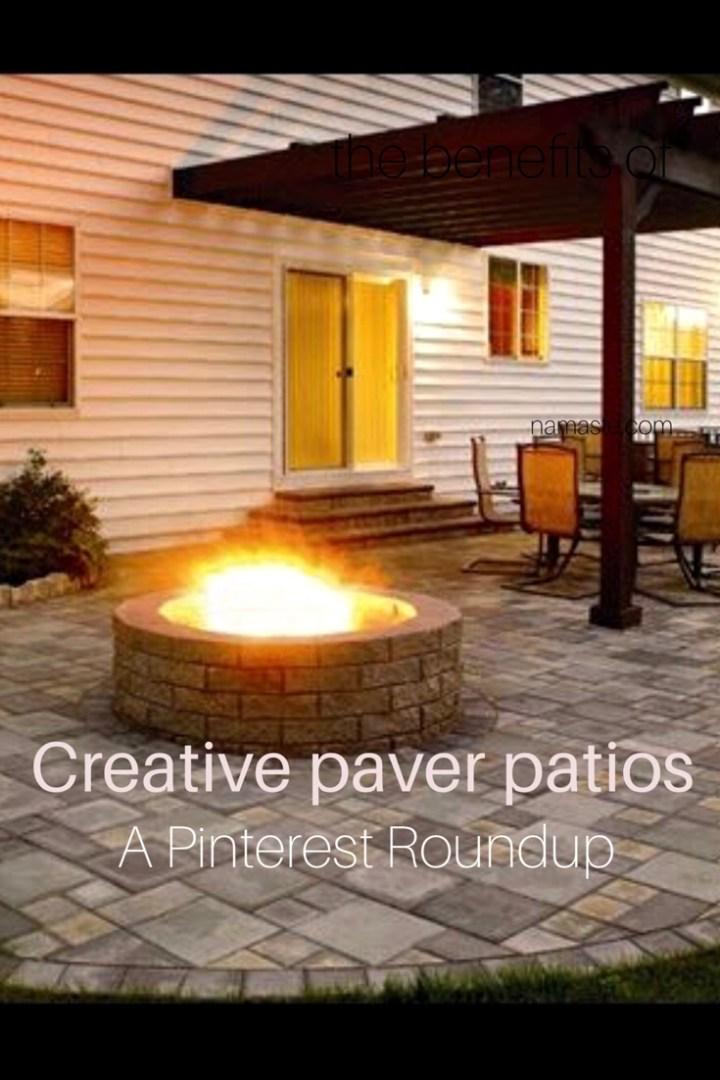 Farmhouse Fridays: paver patio roundup