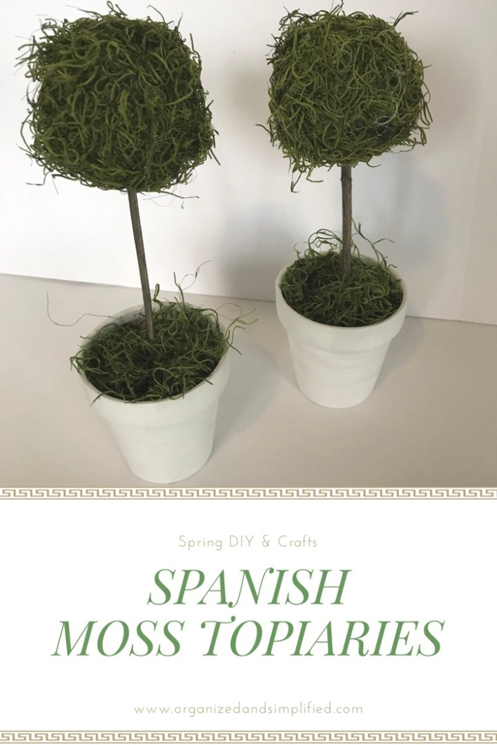 Make something Monday: Spanish moss topiaries