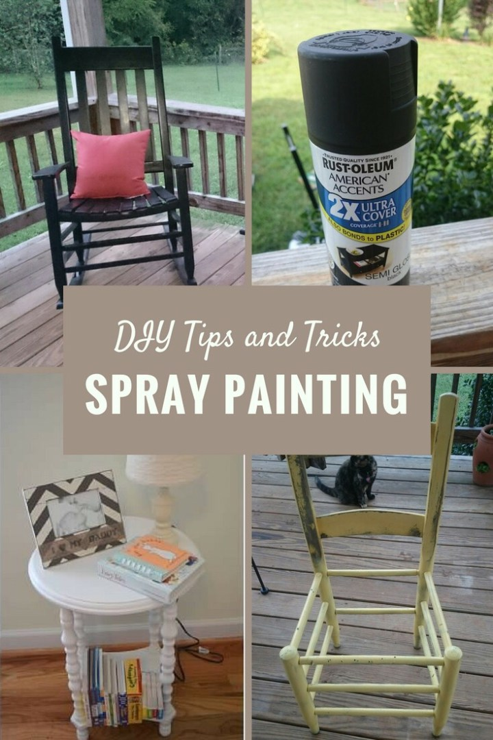 DIY Tips and Tricks: spray painting furniture