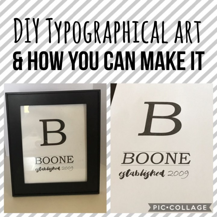 DIY Typographical art and how you can make it!
