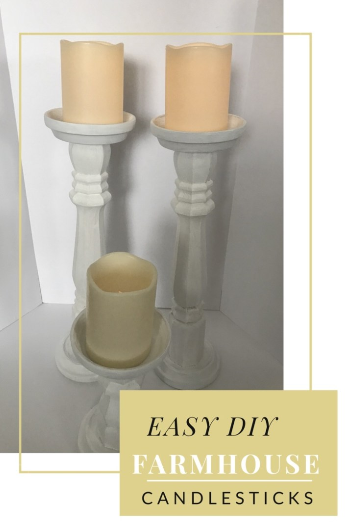 Make it Monday: Easy Farmhouse Candlesticks