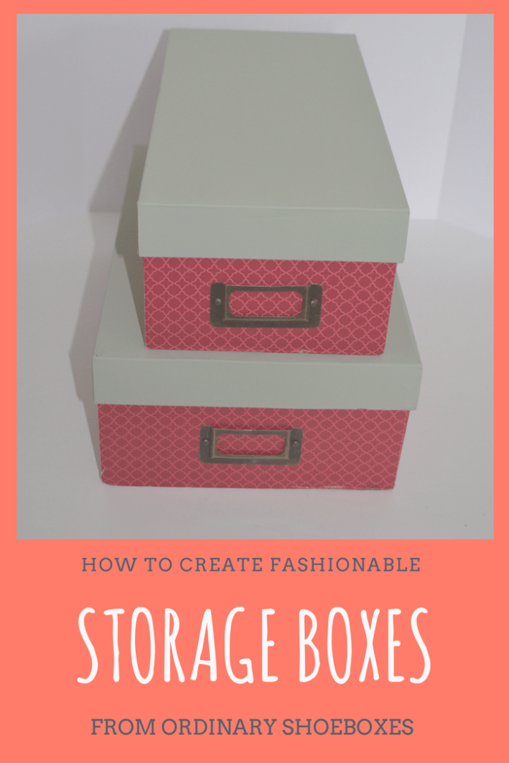 Make it Monday: How to create fashionable storage boxes from ordinary shoeboxes