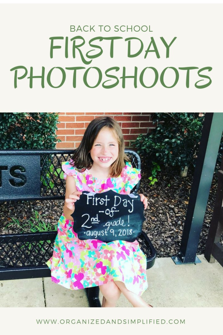 First day of school…and a super cute photo idea