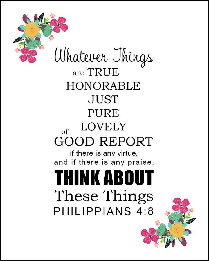 Sunday Musings: Philippians 4:8
