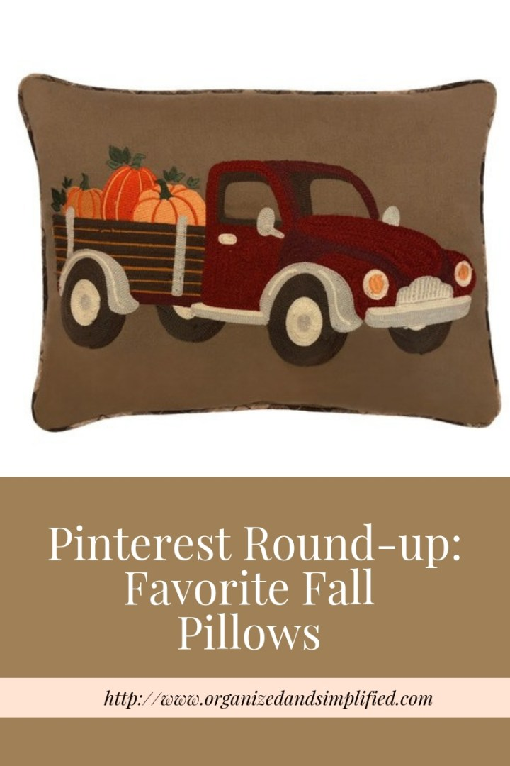 Pinterest Round Up: Favorite Fall Pillows