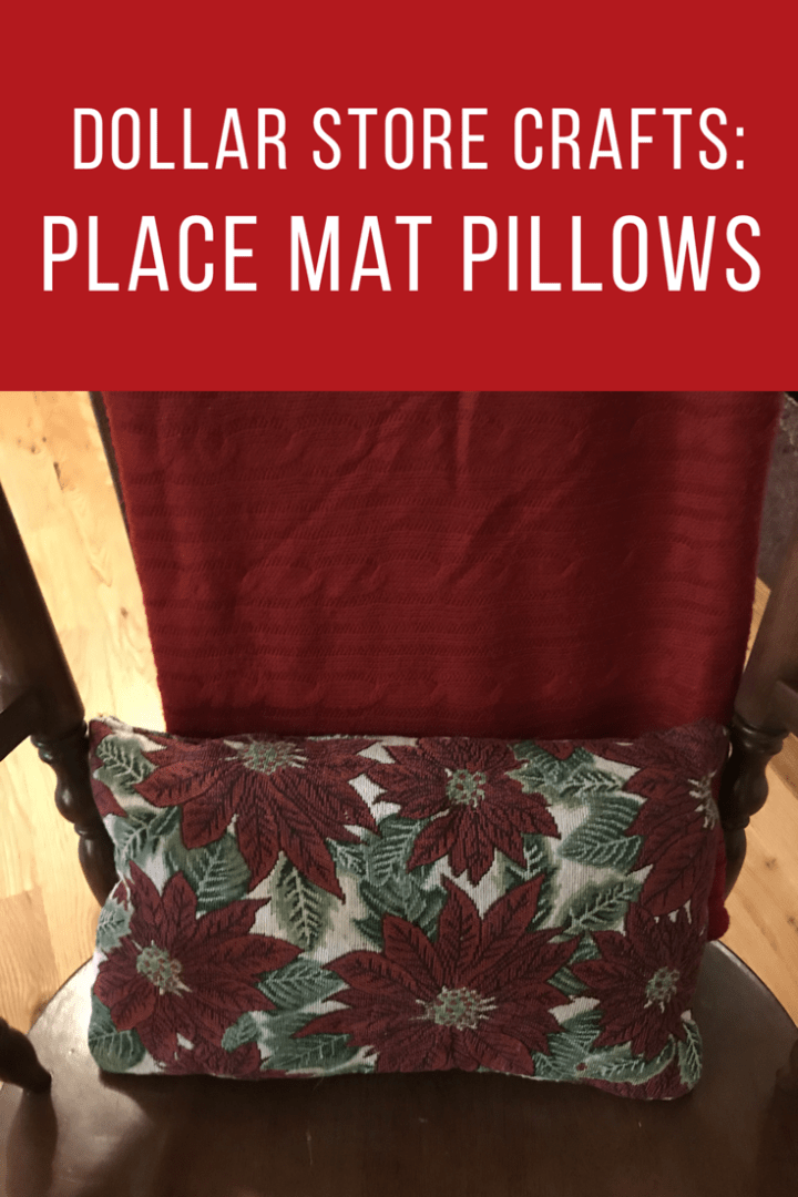Dollar Store Crafts: Place Mat Pillows
