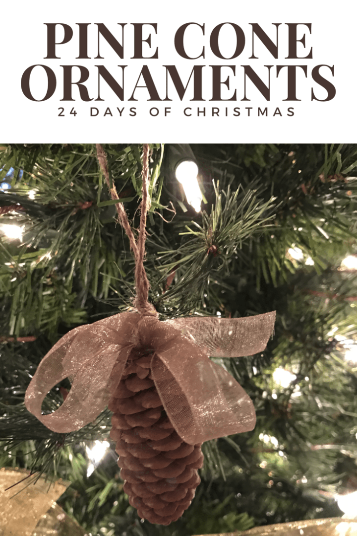 How to DIY Christmas ornaments from pinecones!
