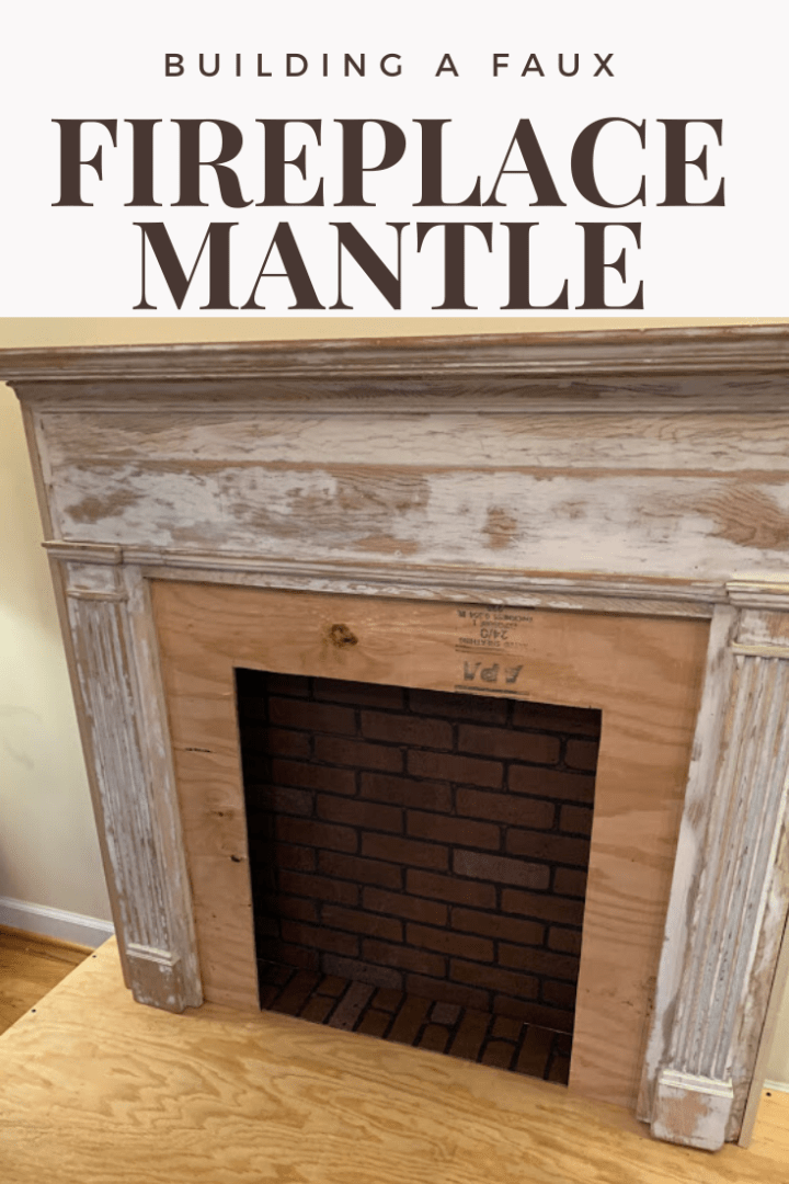 Building an antique fireplace mantle